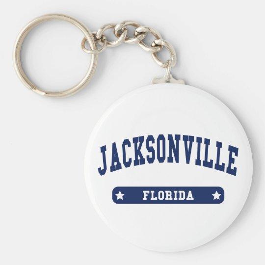 Jacksonville Florida College Style tee shirts Keychain