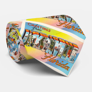 Jacksonville Florida FL Vintage Travel Souvenir Tie