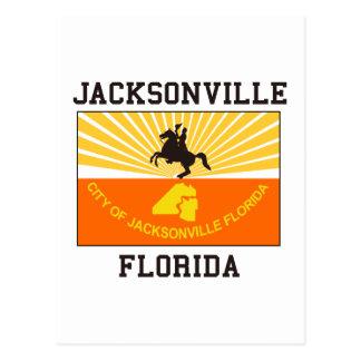 Jacksonville Florida Flag Postcard