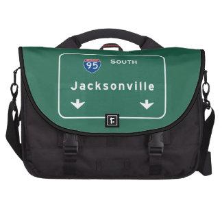 Jacksonville Florida Interstate Highway Freeway : Laptop Messenger Bag