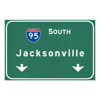 Jacksonville Florida Interstate Highway Freeway : Photo Print