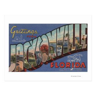 Jacksonville, Florida - Large Letter Scenes 2 Postcards