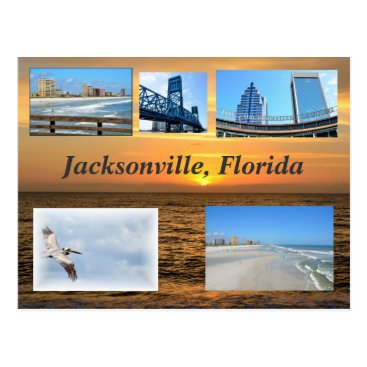 Beach Themed Jacksonville, Florida Postcard