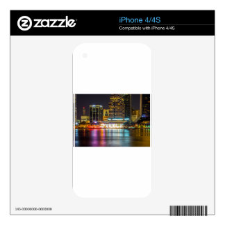 Jacksonville Florida Skyline along river iPhone 4S Decal