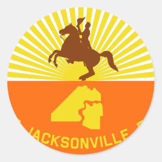 Jacksonville, Florida, United States flag Classic Round Sticker