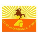 Jacksonville, Florida, United States flag Postcard