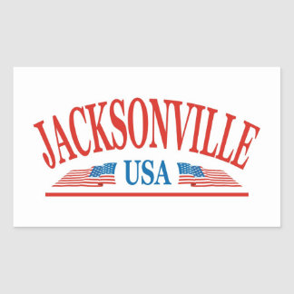 Jacksonville Florida USA Rectangular Sticker