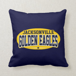 Jacksonville High School; Golden Eagles Throw Pillow