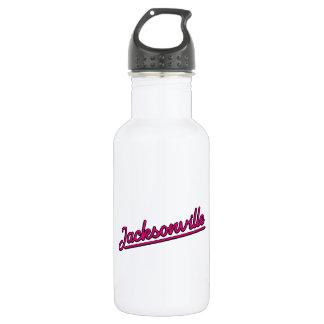 Jacksonville in magenta water bottle