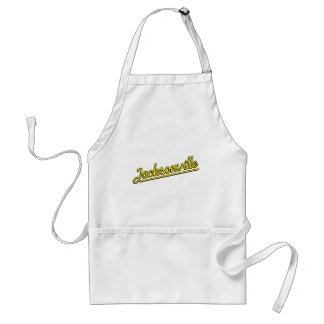 Jacksonville in yellow adult apron