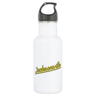 Jacksonville in yellow water bottle