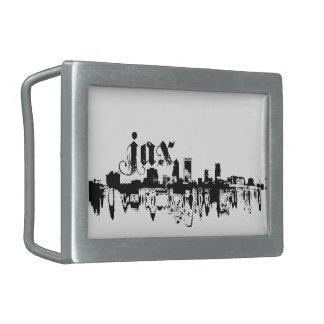 Jacksonville JAX puesta para su ciudad Hebilla De Cinturon