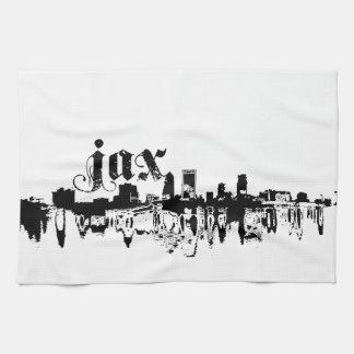 Jacksonville JAX puesta para su ciudad Toalla De Mano