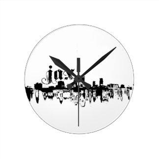 Jacksonville JAX puesta para su ciudad Reloj Redondo Mediano
