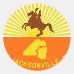 Jacksonville, la Florida, Estados Unidos señala Pegatina Redonda