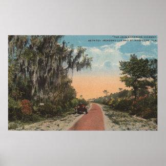 Jacksonville, la Florida - opinión Juan Anderson Póster