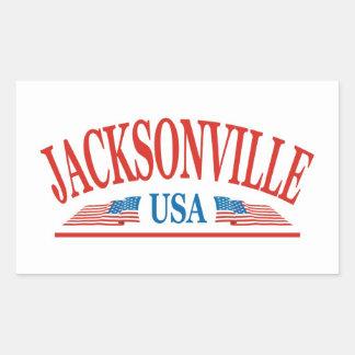 Jacksonville Rectangular Sticker