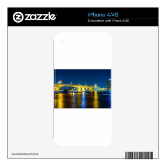 Jacksonville Skyline along river Decal For iPhone 4S