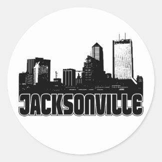 Jacksonville Skyline Classic Round Sticker