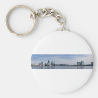 jacksonville skyline panoramic key chains