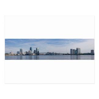 jacksonville skyline panoramic postcard