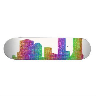 Jacksonville skyline skateboard deck