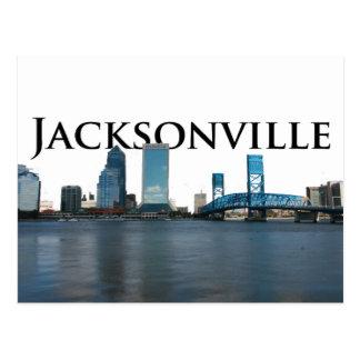 Jacksonville Skyline with Jacksonville in the Sky Postcard