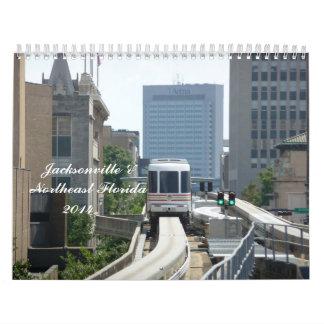 Jacksonville y calendario de pared de nordeste de