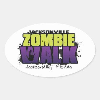 Jacksonville Zombie Walk Logo Decal Oval Sticker
