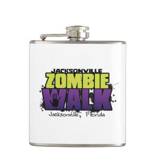 Jacksonville Zombie Walk Logo White Flask