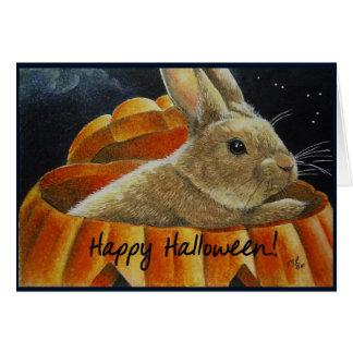 Jaco Lantern Halloween Bunny Cards