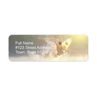 Jaco Surfer Return Address Label