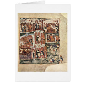 Jacob And Esau By Master Of The Pentateuch Greeting Card