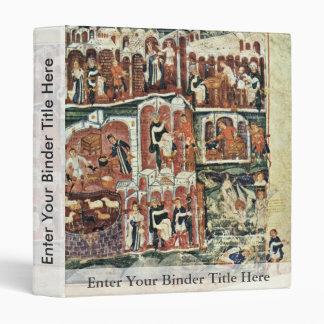 Jacob And Esau By Meister Des Ashburneham-Pentateu Vinyl Binder