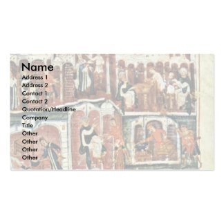 Jacob And Esau By Meister Des Ashburneham-Pentateu Double-Sided Standard Business Cards (Pack Of 100)
