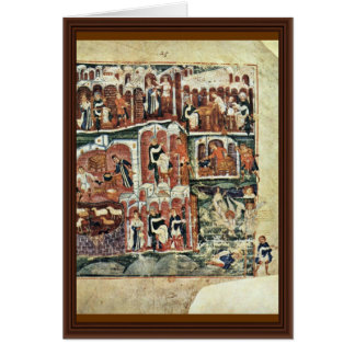Jacob And Esau By Meister Des Ashburneham-Pentateu Greeting Card
