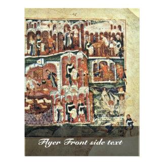 Jacob And Esau By Meister Des Ashburneham-Pentateu Full Color Flyer