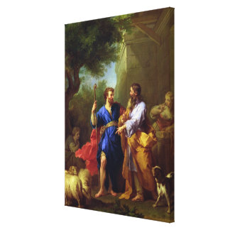 Jacob and Laban, before 1737 Canvas Print