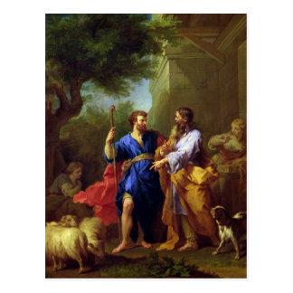 Jacob and Laban, before 1737 Postcard