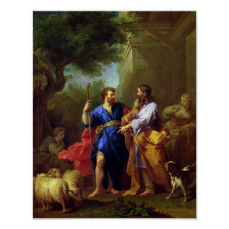 Jacob and Laban, before 1737 Poster