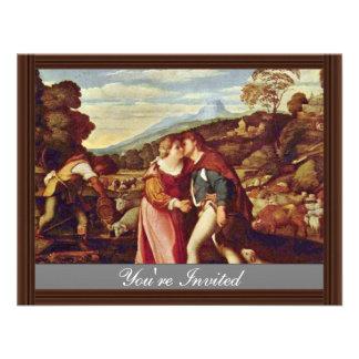 Jacob And Rachel By Palma Il Vecchio Best Quality Custom Announcement