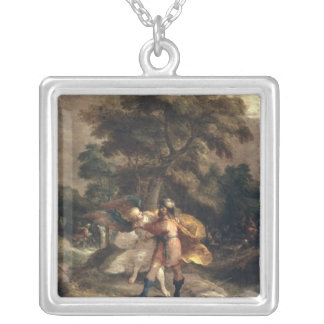 Jacob and the Angel Silver Plated Necklace