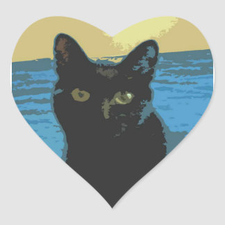 Jacob And The Moon Heart Sticker
