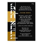 """Jacob Aron hebreo y inglés revisó 3-28 Invitación 5"""" X 7"""""""