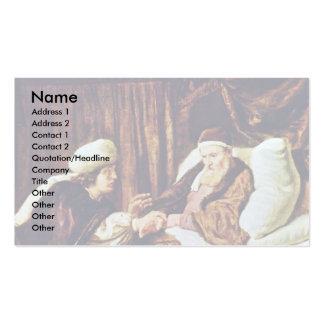 Jacob bendice a los hijos de José de los vencedore Plantillas De Tarjetas Personales