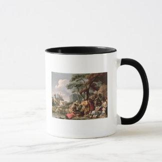 Jacob burying the strange gods under the oak mug
