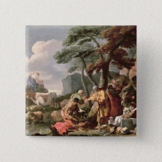 Jacob burying the strange gods under the oak pinback button