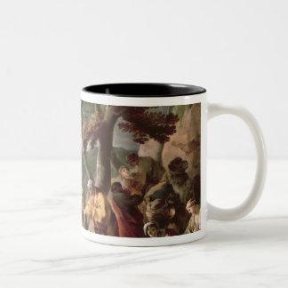 Jacob burying the strange gods under the oak Two-Tone coffee mug