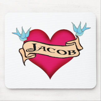 Jacob - camisetas y regalos de encargo del tatuaje tapete de ratones