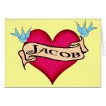 Jacob - camisetas y regalos de encargo del tatuaje tarjeta